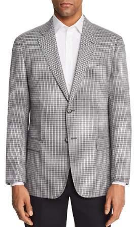 Emporio Armani Check Stitch Regular Fit Sport Coat