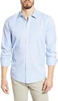 Bugatchi Shaped Fit Print Button-Up Performance Shirt