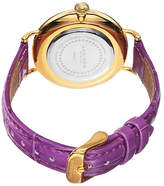Akribos XXIV Velvet Womens Leather Strap Watch No Color Family