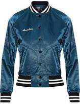 R 13 Appliquéd Satin Bomber Jacket