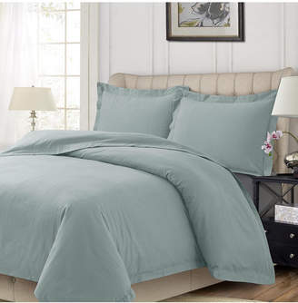 Heavyweight Flannel Solid Oversized Queen Duvet Set Bedding