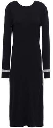 Nina Ricci Crystal-embellished Wool Midi Dress