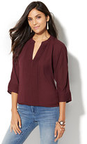 New York & Co. Pintuck Dolman Sleeve Blouse