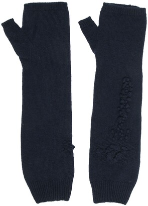 Barrie Cashmere Fingerless Gloves