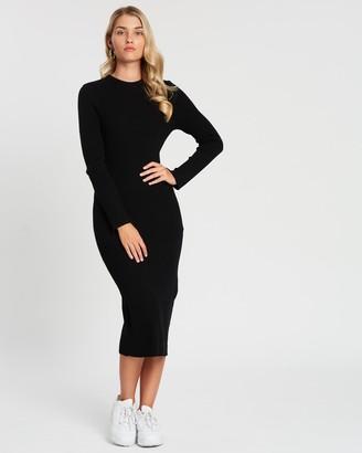 Cotton On Ella Long Sleeve Maxi Split Dress