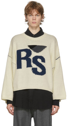 Raf Simons Off-White Oversized RS Sweater