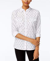 Maison Jules Cotton Polka-Dot Shirt, Created for Macy's