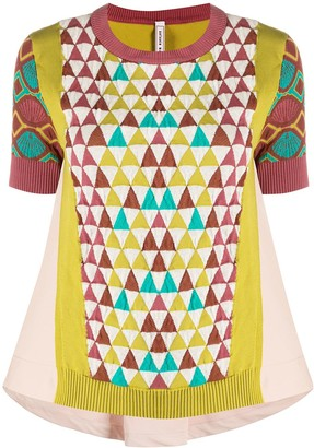 Antonio Marras Geometric Pattern Knitted Top