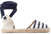 Manebi Striped Tweed Espadrilles - Blue