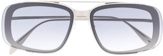 Alexander Mcqueen Eyewear Metal Frame Square sunglasses