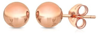 Pori 14k Rose Goldplated Sterling Silver 7mm Ball Stud Earrings
