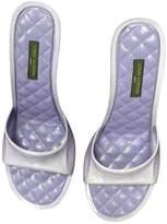 Louis Vuitton Purple Rubber Sandals