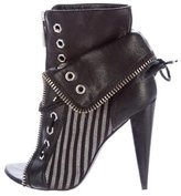 Alexander Wang Lace-Up Striped Booties