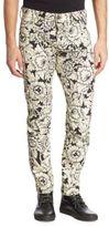G Star Slim-Fit Floral Printed Jeans