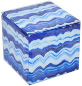 Three Hands Glass Box, Small - Blue Marbled