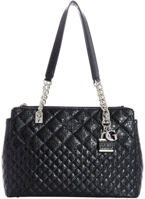 GUESS SY766609BLA Queenie Double Handle Shoulder Bag