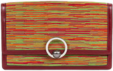 One Kings Lane Vintage Hermes Vibrato Red Clutch - Vintage Lux - red/multi/palladium