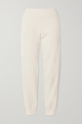 Vaara Esme Satin-trimmed Organic Cotton-jersey Track Pants - Ivory