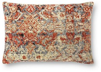 """Loloi Rugs Outdoor Rectangular Pillow Cover and Insert Size: 16"""" x 26"""", Fill Material: Down Blend"""