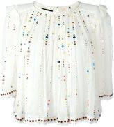 Isabel Marant 'Fordon' cosmic embroidery top - women - Silk/Acrylic - 40