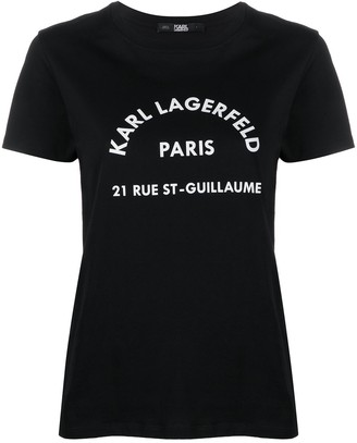 Karl Lagerfeld Paris Address logo T-shirt