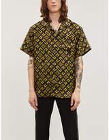 Givenchy Logo-print regular-fit silk shirt