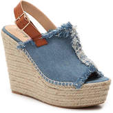 Penny Loves Kenny Women's Notch Wedge Sandal -Blue