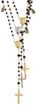 Dolce & Gabbana Triple-strand rosary necklace