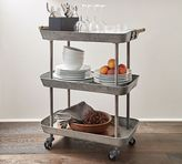 Pottery Barn Rainier Galvanized Storage Cart