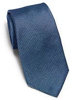 Michael Kors Polka-Dot Woven-Silk Tie