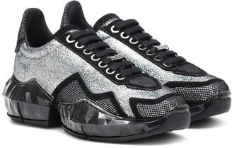 Jimmy Choo Diamond/F glitter leather sneakers
