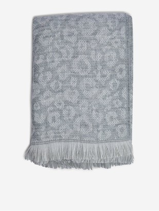 Dorothy Perkins Animal Print Scarf - Grey