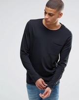 Selected Homme Long Sleeve Top With Raw Edge