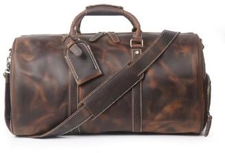 Touri Leather Boot Bag In Dark Brown