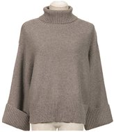 Remeehi Women's Warm Turtleneck Soft Knitted Pullover Sweater Loose Classical Solid Sweater M