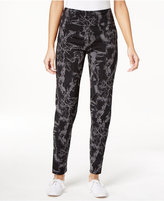 Style&Co. Style & Co. Marble-Print Tummy Control Casual Active Leggings, Only at Macy's