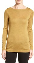 Eileen Fisher Women's Fine Merino Bateau Neck Top