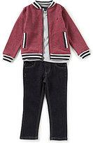 Nautica Little Boys 2T-7 Track Jacket, V-Neck Tee, & Pants 3-Piece Set
