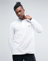 Lacoste Polo Shirt In Long Sleeve White Regular Fit