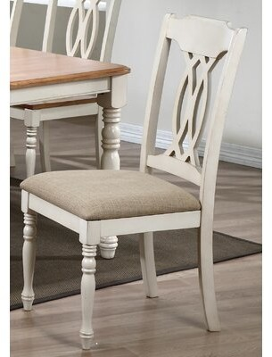 Biscotti Red Barrel Studio Cupp Upholstered Queen Anne Back Side Chair Red Barrel Studio Finish