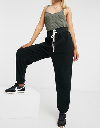 Free People cuffed slouch jogger in black
