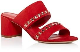 Salvatore Ferragamo Women's Trabia Embellished Block Heel Slide Sandals
