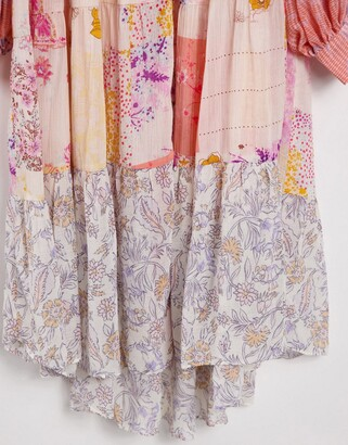 Free People California Soul maxi shirt dress in patchwork floral