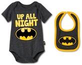 Batman Newborn Boys' Bodysuit & Bib Set - Gray