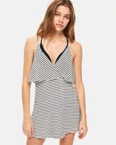 Topshop Striped Wrap Sun Dress