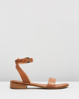 Jo Mercer - Women's Brown Flat Sandals - Hattie Flat Sandals - Size 36 at The Iconic