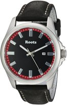 Roots Men's 'Core' Quartz Stainless Steel and Leather Casual Watch, Color: (Model: 1R-LF410RE2B)