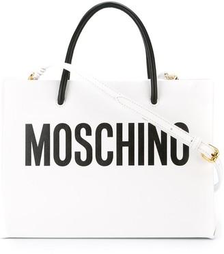 Moschino Logo-Print Tote Bag