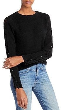 Aqua Cashmere Lace Up Cashmere Sweater - 100% Exclusive