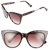 Derek Lam Women's 'Lenox' 53Mm Cat Eye Sunglasses - Matte Nude Crystal